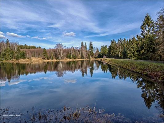 Spiegelungen ... am Langer Teich, bei Clausthal-Zellerfeld