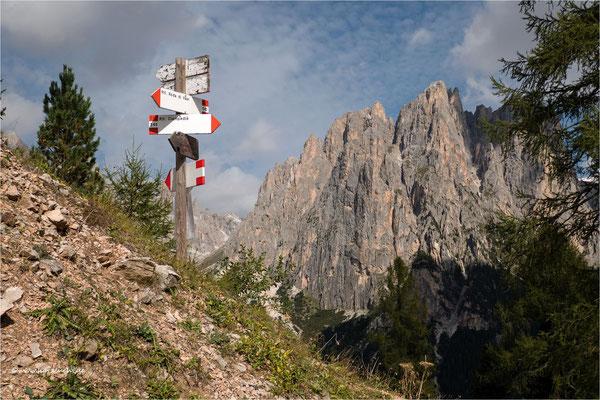 Wegweiser zur Rotwandhütte