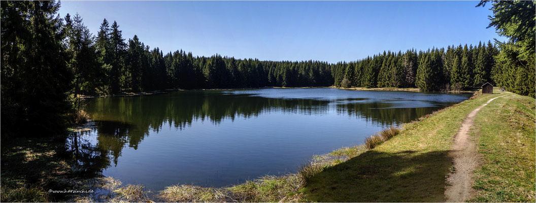 mal ein Panorama ... der obere Hahnebalzer Teich