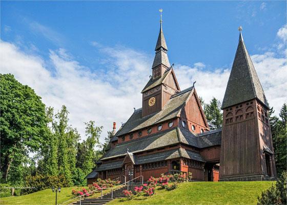 die Gustav-Adolf-Stabkirche ... in Hahnenklee