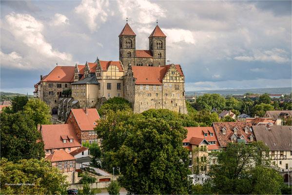 Blick vom Münzberg auf den Schlossberg