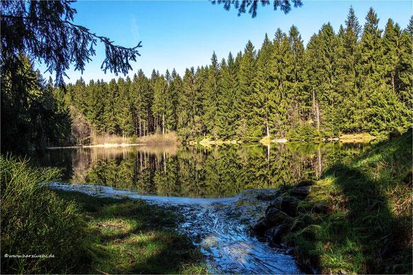 der mittlere Einersberger Teich ...