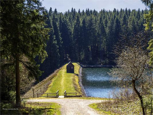 am oberen Einersberger Teich ...