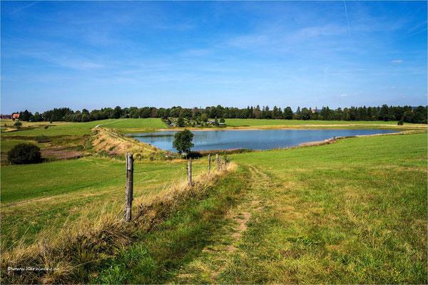 Blick auf den Johann-Friedrich-Teich ....