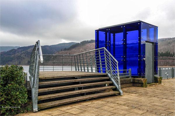 das blaue Glashaus ... an der Innerstetalsperre