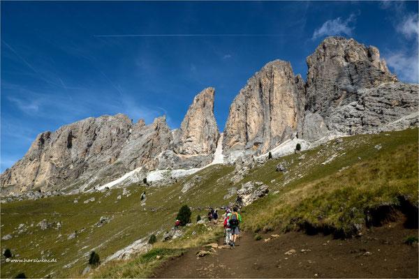 Höhenwanderweg an der Langkofel-Gruppe