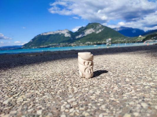 Sur les bords du lac d'Annecy...