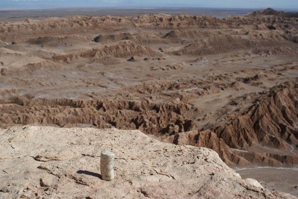 A la vallée de la Lune, dans le désert d'Atacama, au Chili...
