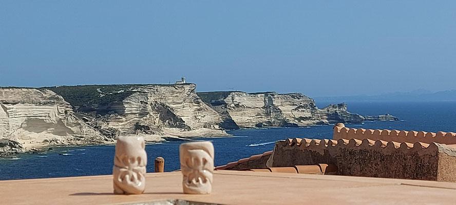 Sur les falaises de Bonifacio ...
