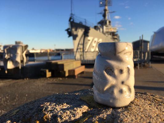 Dans le port de Boston, USA...