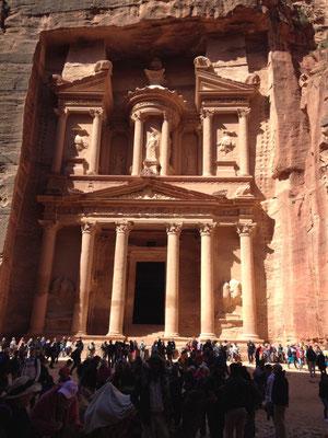 A Petra, en Jordanie...