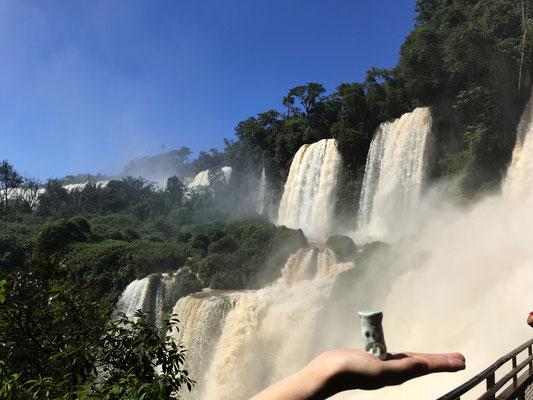 En Argentine, au pied des chutes d'Iguazu...