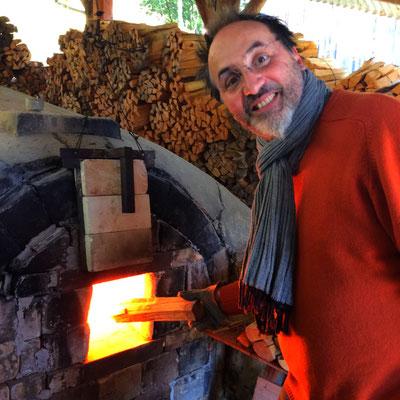 Les fameuses cuissons Anagama (au bois)