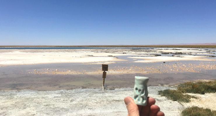 Dans le désert d'Atacama, au Chili ...