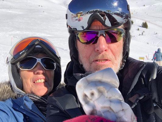 Sur les pistes de ski, au Tyrol, en Autriche...