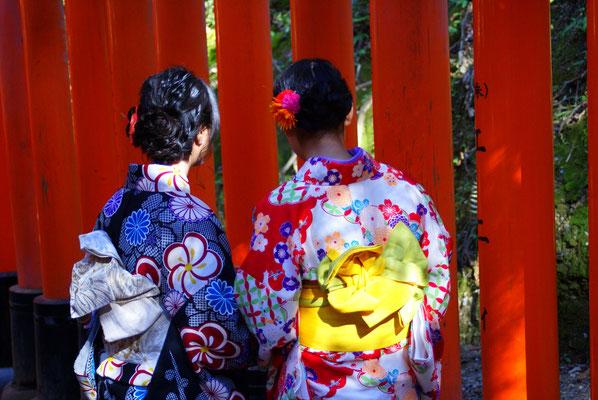 Le temple de Fushimi Inari, au sud de Kyoto...