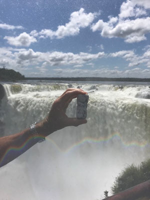 Aux chutes d'Iguazu, en Argentine..