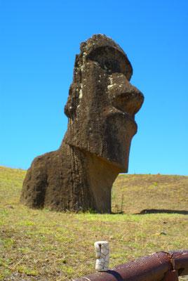 Sur l'île de Pâques...