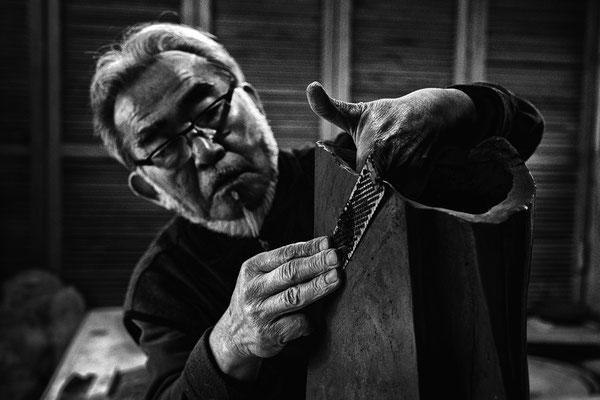 Rizu Takahashi dans son atelier