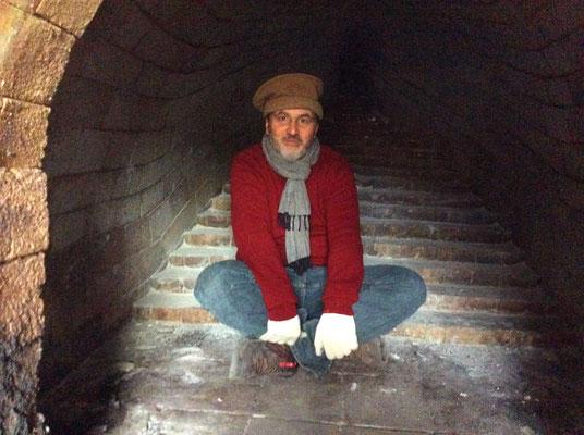 L'intérieur d'un four Anagama ... à froid :-)