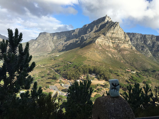 A Table Mountain, en Afrique du Sud...