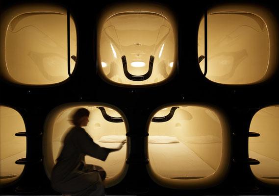 """Un """"capsule hotel"""" à Kyoto..."""