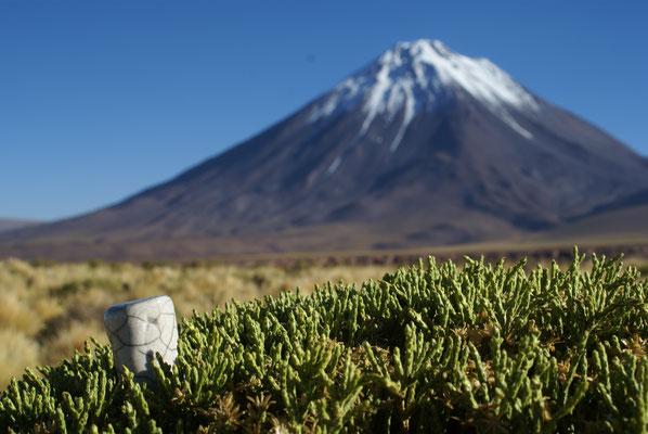 Au pied du volcan Likancabur, au Chili...
