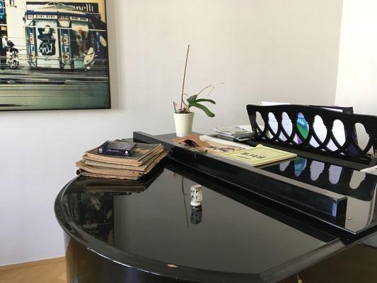 A Leipzig, en Allemagne, sur un piano...