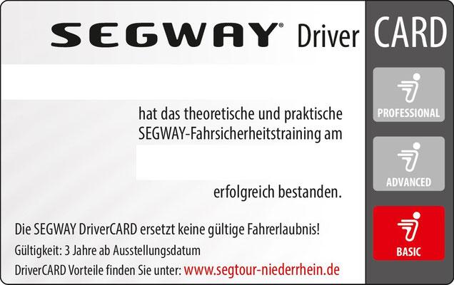 Segway DriverCard