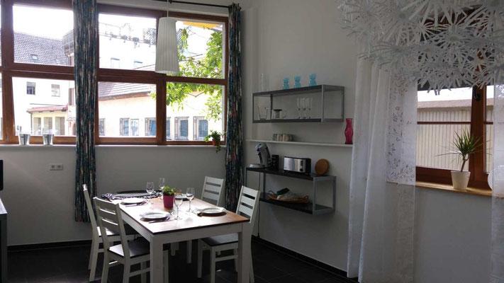Detailansicht Wohnbereich FeWo Riegel in Kenzingen