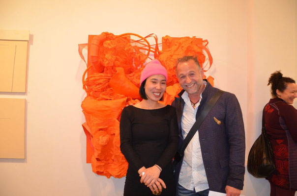 With artist Sukyung Kim. photo: Nicole Ponesch ©