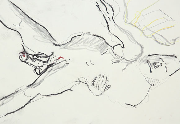 NUDE DRAWINGS 2020 Series 1_4, 30x21 cm, charcoal on paper, VIENNA 2020, photo: Reinhold Ponesch ©