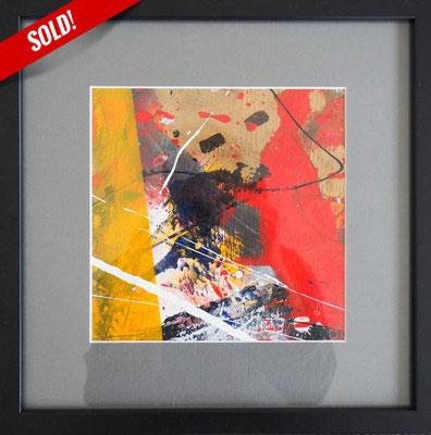 6. GOLD RUSH, 20 x 20 cm, framed: 33 x 33 cm
