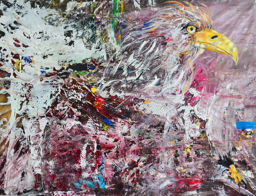 POWER OF BIRTH, 150x200 cm, acrylic on canvas, Vienna 2014, private collection