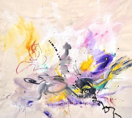 TIMELESS, 135x150 cm, acrylic, oil, pastel, permanent on canvas, VIENNA, 2020, Photo Reinhold Ponesch ©