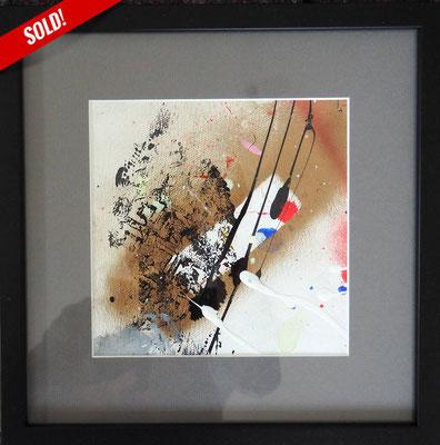 12. PRINT OF LIFE, 20 x 20 cm, framed: 33 x 33 cm