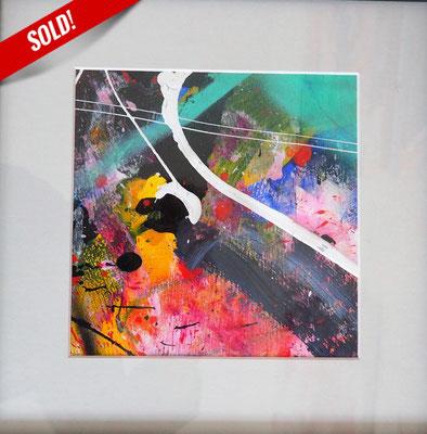 22. TAGEBUCH EINES REISENDEN, 20 x 20 cm, framed: 33 x 33 cm