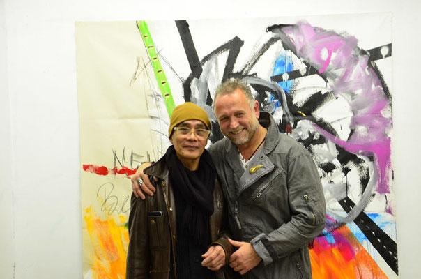 With artist Joel Soliven. photo: Nicole Ponesch ©