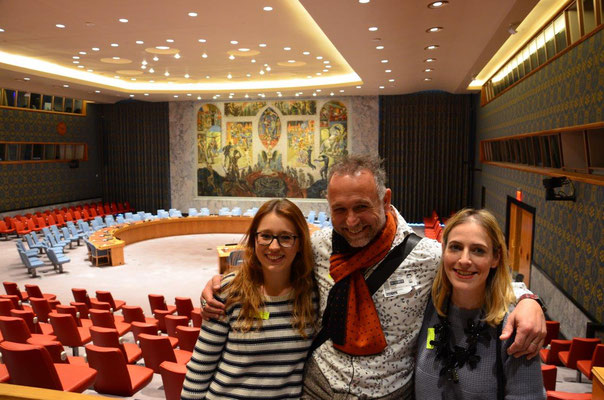 In the Security Council meeting room. photo: Nicole & Reinhold Ponesch ©