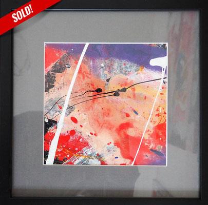 23. TAKE ME - TAKE ME, 20 x 20 cm, framed: 33 x 33 cm