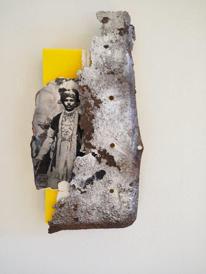 IMPERIAL THOUGHTS, 40x20cm, sponges, photo, metal, NEW YORK 2017, photo: Reinhold Ponesch ©