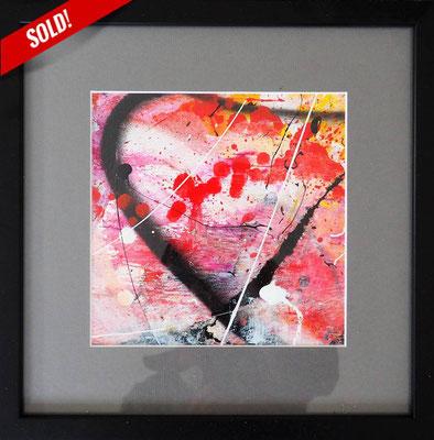 17. SPIRIT OF LIFE, 20 x 20 cm, framed: 33 x 33 cm