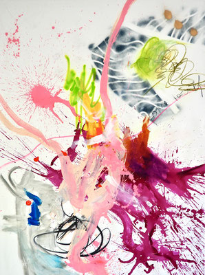 CROWNING MOMENT, 200x150 cm, acrylic, crayon on canvas, VIENNA 2021, Photo Reinhold Ponesch ©