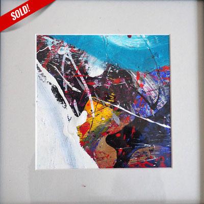 9. MEERESGRUND, 20 x 20 cm, framed: 33 x 33 cm