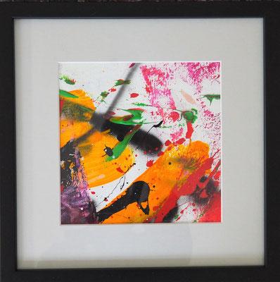 24. TRUST IN LIFE, 20 x 20 cm, framed: 33 x 33 cm