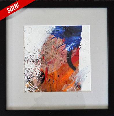 11. PEAK OF THE MOUNTAIN, 20 x 20 cm, framed: 33 x 33 cm