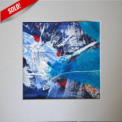 8. MATTERHORN, 20 x 20 cm, framed: 33 x 33 cm
