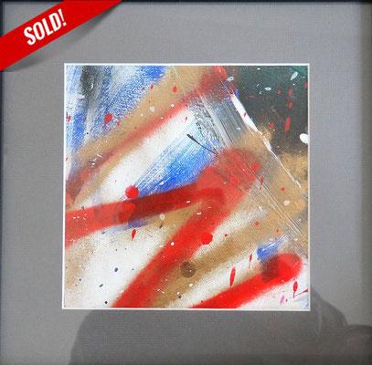 13. RAYS OF THE SUN, 20 x 20 cm, framed: 33 x 33 cm