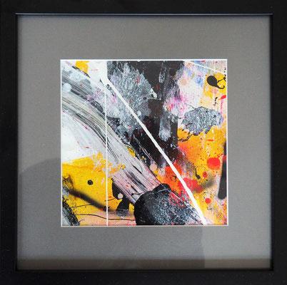 20. STARS IN THE NIGHT, 20 x 20 cm, framed: 33 x 33 cm