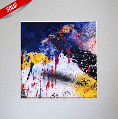 7. IT'S RAINING, 20 x 20 cm, framed: 33 x 33 cm
